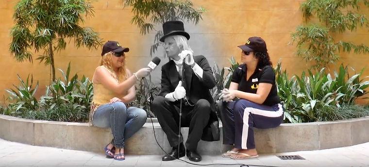 Alunos durante entrevista da TV Degase