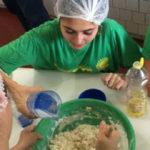 Cozinha da escola e criatividade