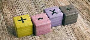 Blocos com operações matemáticas