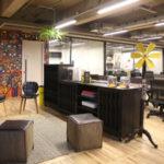 Espaço onde ficam as empresas no coworking CIVI-CO