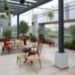 Espaço no terraço do coworking CIVI-CO