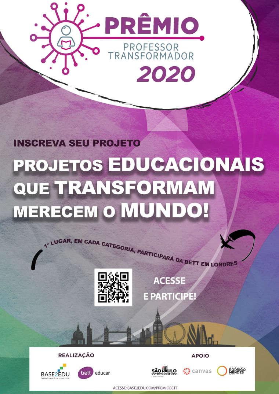 Cartaz do prêmio Prêmio Professor Transformador 2020