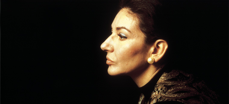 A cantora Maria Callas