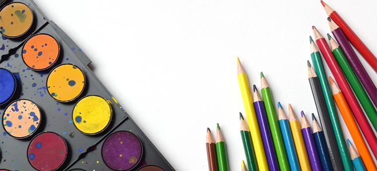 Aquarela e lápis de cor
