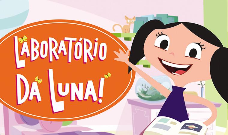 Aplicativo com a personagem Luna