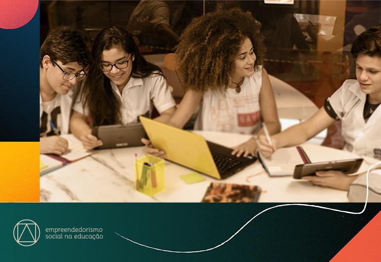 Ilustração do post Oi Futuro, British Council e Porvir lançam especial Empreendedorismo Social na Educação