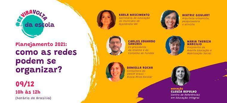 Campanha de Reviravolta da Escola organiza webinário dia 9 de dezembro às 10 horas