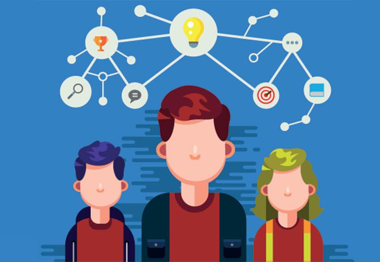 Ilustração do post Mapas mentais mostram para professora como alunos aprendem em aulas remotas