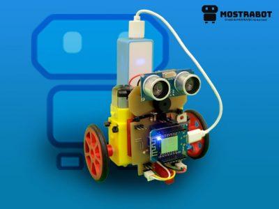 Robô produzido para oficina de robótica