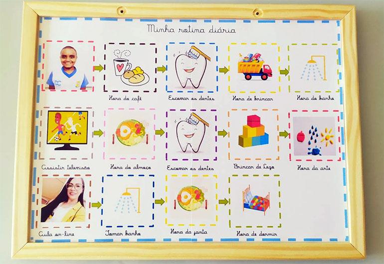 Ilustração do post Professora cria caixa multissensorial para auxiliar aluno autista em aulas remotas